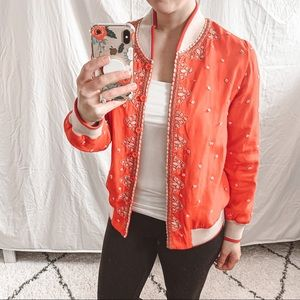 Anthro Conditions Apply Arabella Bomber Jacket